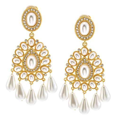 Kenneth Jay Lane Pearl Drop Earrings