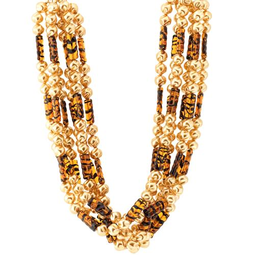Kenneth Jay Lane Six Row Necklace
