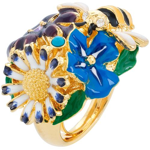 Kenneth Jay Lane Small Bee Garden Ring