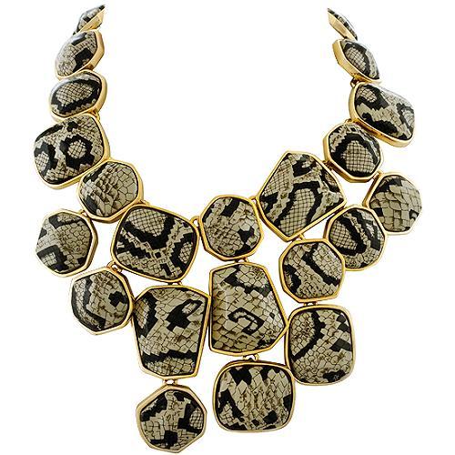 Kenneth Jay Lane Snake Drop Necklace