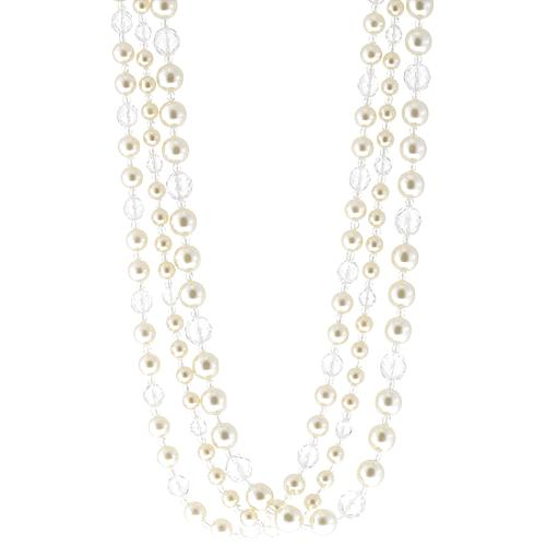 Kenneth Jay Lane Three Row Cultured Pearl Necklace