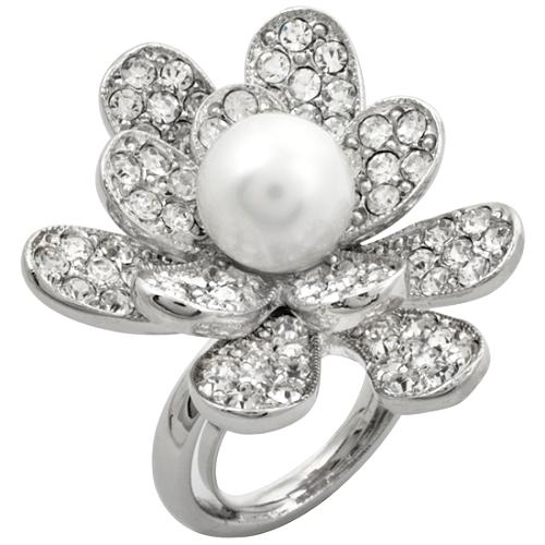 Kenneth Jay Lane White Pearl Ring