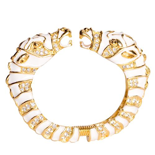 Kenneth Jay Lane Zebra Head Bracelet