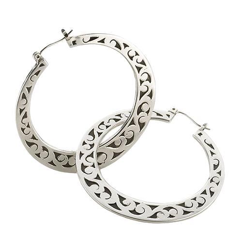Lois Hill Flat Cutout Hoop Earrings