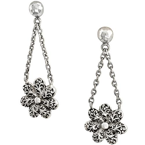 Lois Hill Flower Drop Earrings