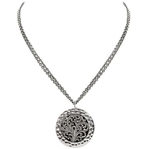 Lois Hill Scroll Pendant Necklace
