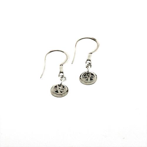 Lois Hill Small Hammered Cut Out Disc Earrings