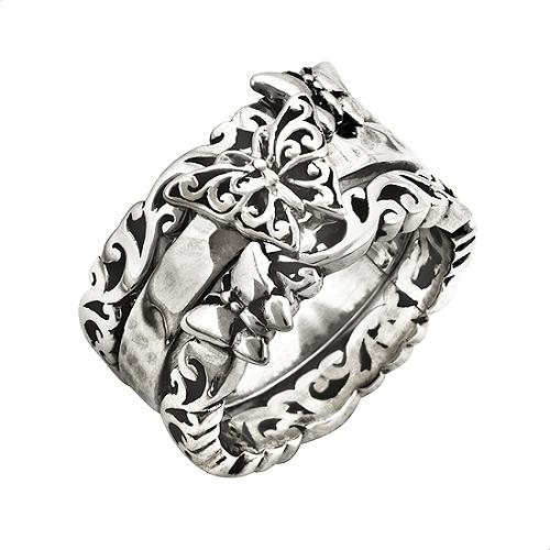 Lois Hill Stackable Butterfly Rings