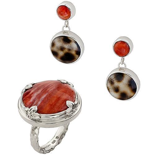 Lori Bonn Round Petal Ring & Earrings