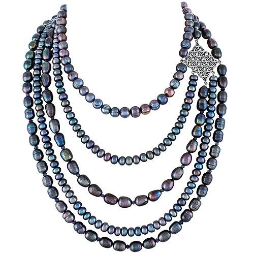Lori Bonn Windsor Multistrand Florentine Necklace