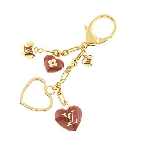 Louis Vuitton Coeurs Key Ring Bag Charm