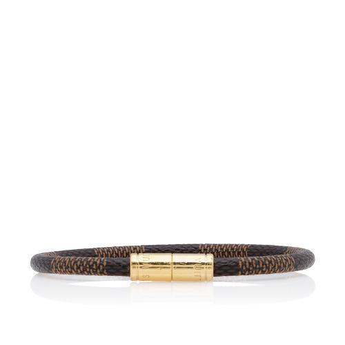 Louis Vuitton Damier Ebene Keep It Bracelet