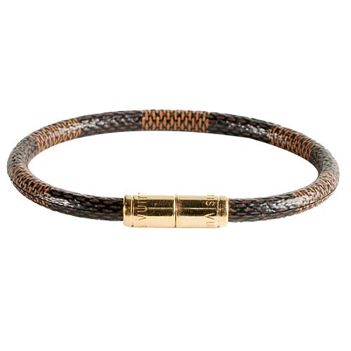 Louis Vuitton Damier Ebene Keep It Bracelet