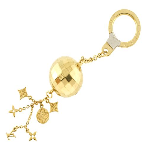 Louis Vuitton Disco Ball Key Ring Bag Charm