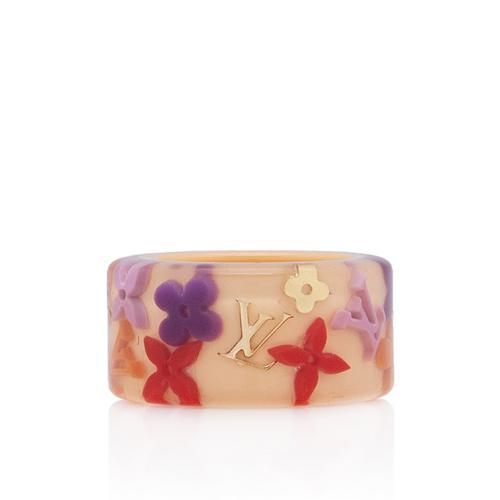 Louis Vuitton Floral Inclusion Ring - Size 6