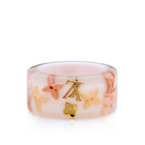 Louis Vuitton Floral Inclusion Ring - Size 7