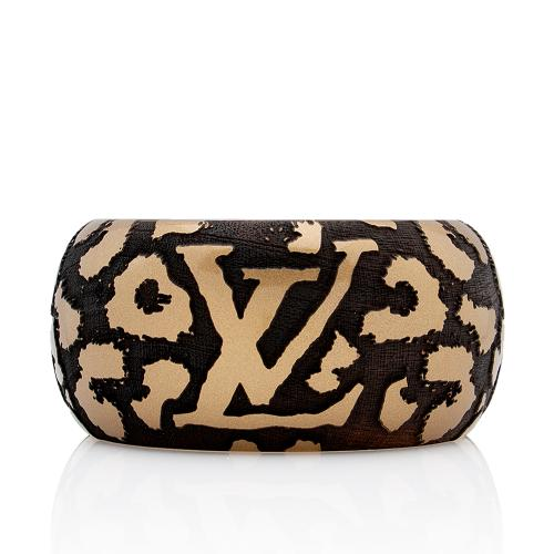 Louis Vuitton Lacquer Wood Leomonogram Cuff Bracelet