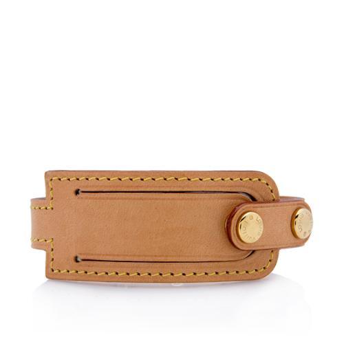 Louis Vuitton Leather Address Bracelet
