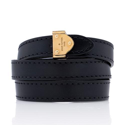 Louis Vuitton Leather Box It Wrap Bracelet