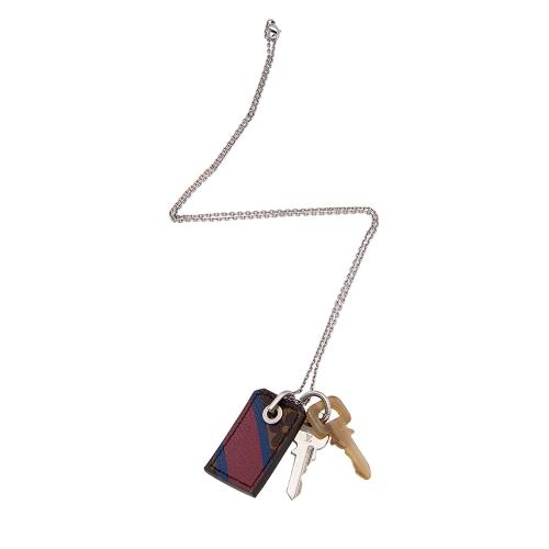 Louis Vuitton Monogram Key Pendant Necklace