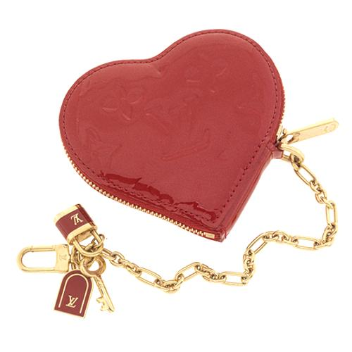 Louis Vuitton Monogram Vernis Heart Coin Wallet