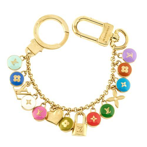 Louis Vuitton Pastilles Chains Key Ring Bag Charm