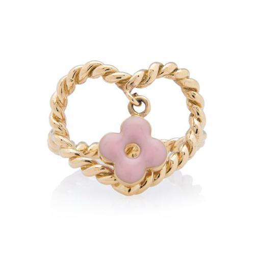 Louis Vuitton Sweet Monogram Heart Ring - Size 6 1/2