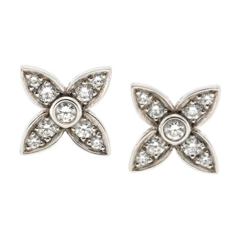 Louis Vuitton White Gold and Diamond Les Craquantes Earrings