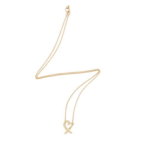 Tiffany & Co. 18kt Yellow Gold Open Heart Necklace