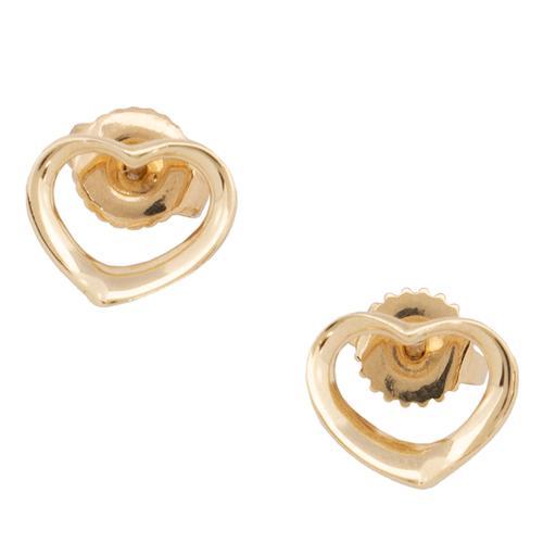 Tiffany & Co. Elsa Perretti 18k Yellow Gold Open Heart Earrings