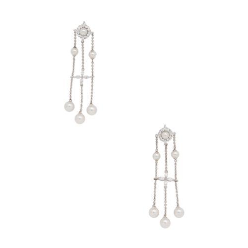Majorica Star Chandelier Earrings