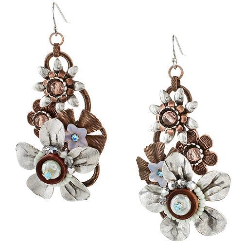 Miriam Haskell Flower Drop Earrings