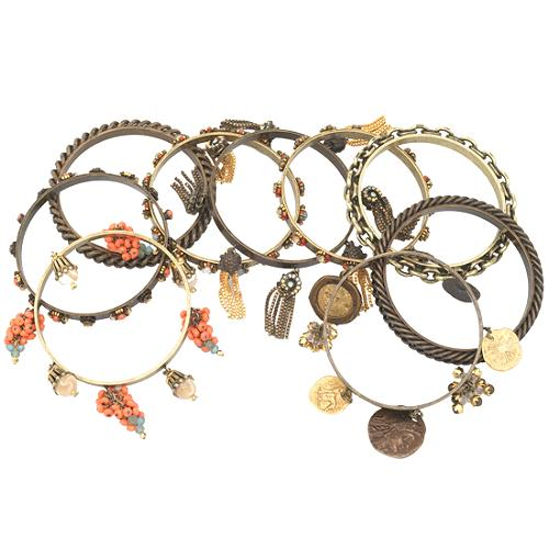 Miriam Haskell Set of 9 Bangles