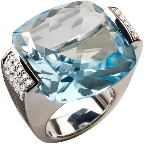 Pianegonda Blue Topaz Glitter Drop Ring