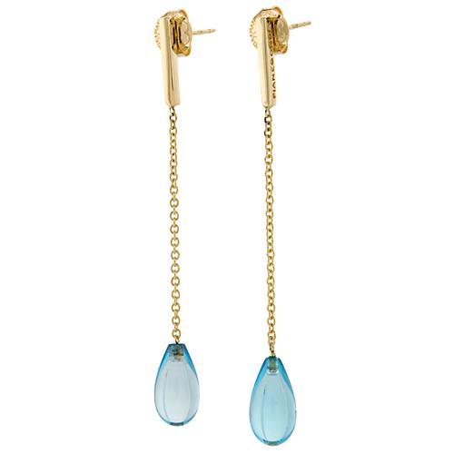 Pianegonda Blue Topaz Tear Drop Earrings