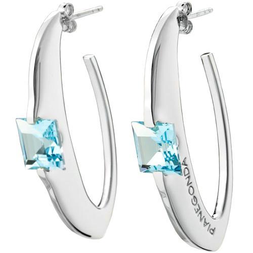 Pianegonda Cosmic Drop Silver Cuff Earrings