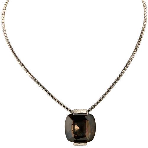 Pianegonda Glitter Drops Smokey Quartz Necklace