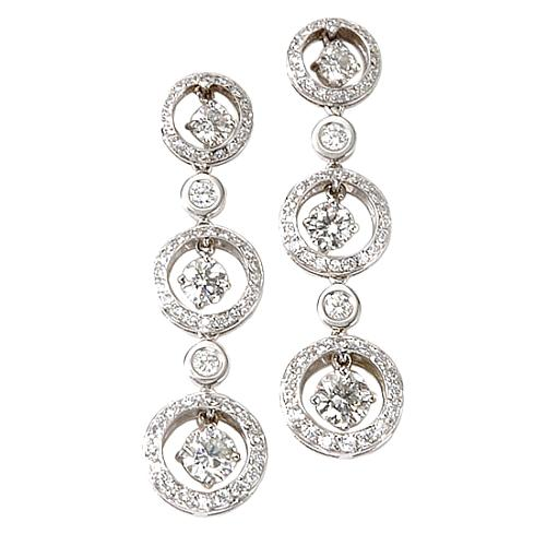 Rosiblu Pave Circle Drop Earrings