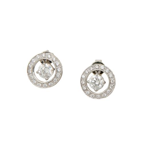 Rosiblu Pave Solitaire Earrings