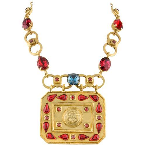 Yves Saint Laurent Vintage Medallion Pendant Necklace