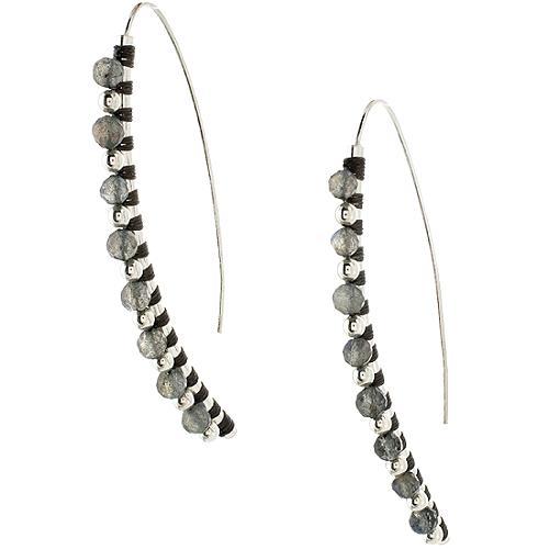 Simon Alcantara Curved Labradorite Earrings