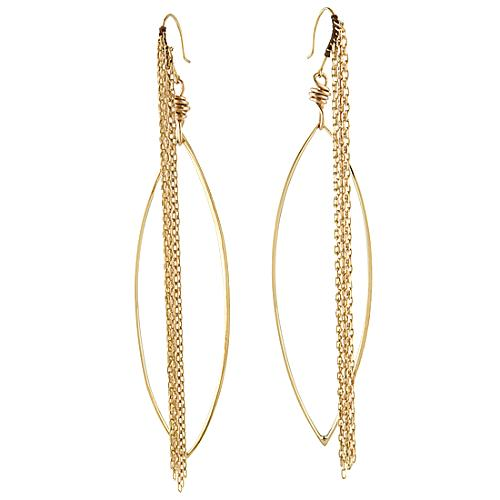Simon Alcantara Long Fringe Earrings