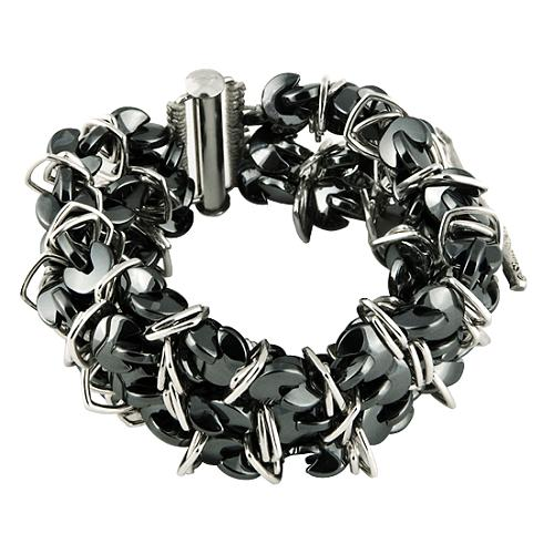 Simon Alcantara Multi Strand Hematite Bracelet