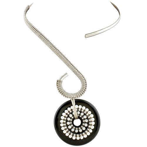 Simon Alcantara Onyx Pearl Necklace