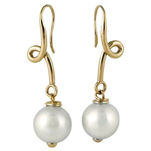 Simon Alcantara Pearl Twist Earrings