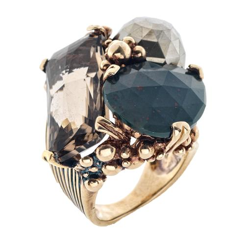 Stephen Dweck 3 Stone Bubble Ring - Size 7