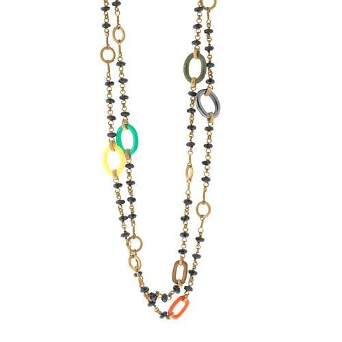 "Stephen Dweck 50"" Gem Stone Layering Necklace"