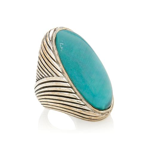 Stephen Dweck Blue Oval Ring - Size 8