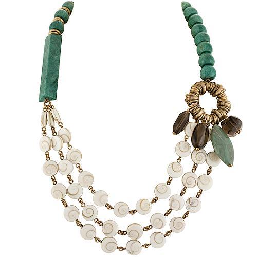 Stephen Dweck Green Quartzite Multi Strand Necklace