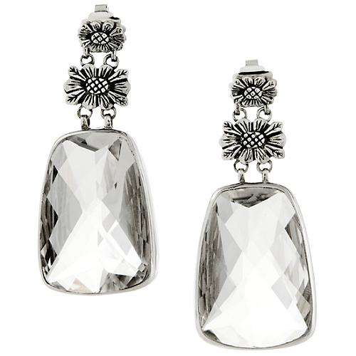 Stephen Dweck Rock Crystal Flower Drop Earrings